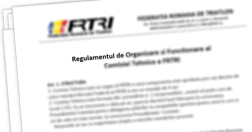 Regulament FRTRI