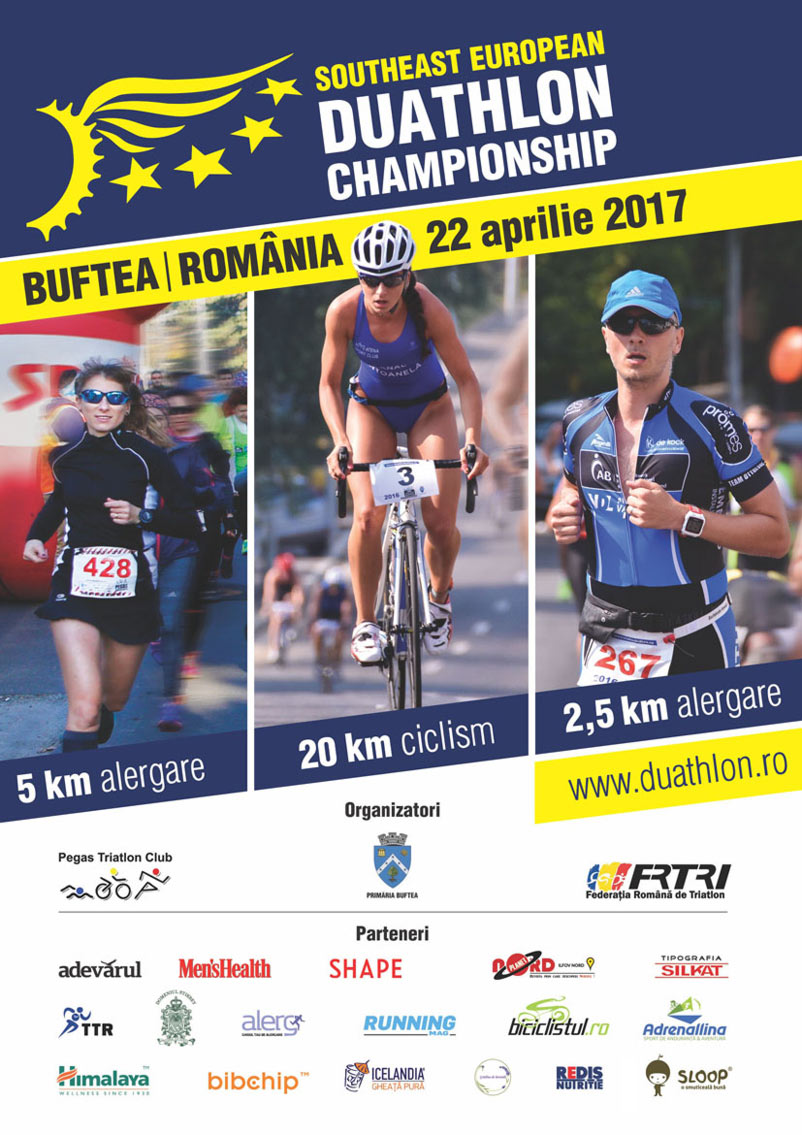 Campionatul SE European de Duatlon – România, Buftea, 2017 - Comunicat de presă