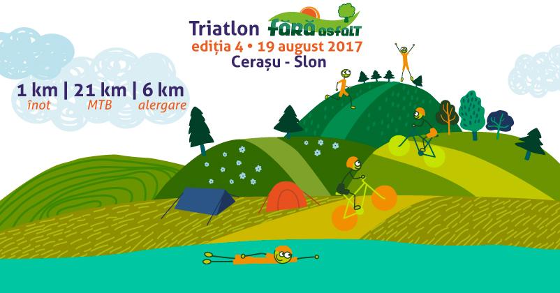 Vino la un triatlon în mijlocul naturii!