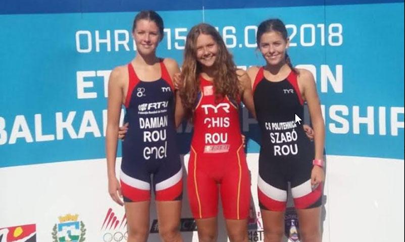 Campionatul Balcanic de Triatlon - doua medalii de bronz