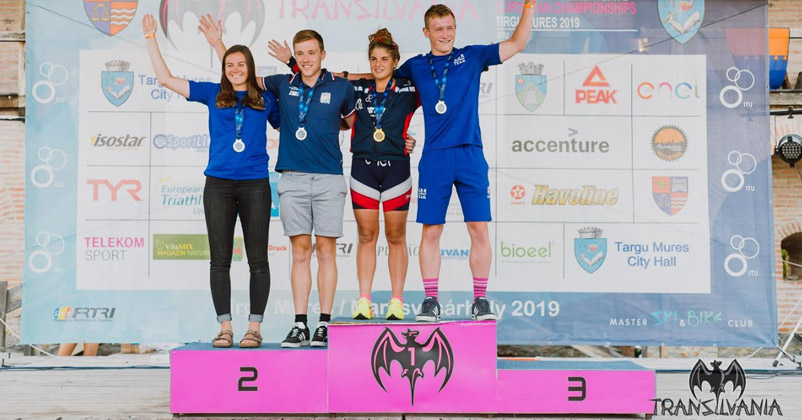 Noii Campioni Nationali la Cros Triatlon si Aquabike