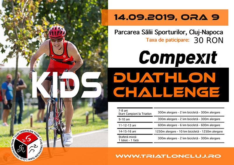Kids Duathlon Challenge - Cluj 14 septembrie